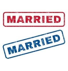 Married rubber stamps vector
