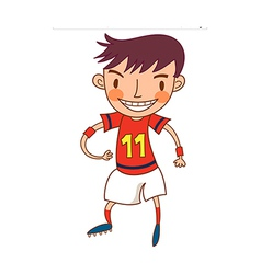Close-up of boy standing vector