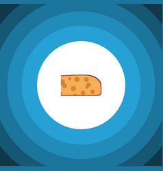 Isolated holland cheese flat icon cheddar slice vector