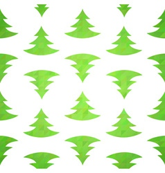 Christmas tree decorative seamless pattern vector