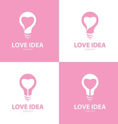 Love idea icon symbol set vector
