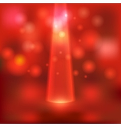red stage light background vector image