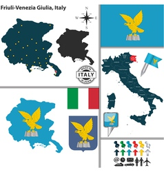 Map of friuli venezia giulia vector