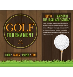 Golf tournament flyer vector