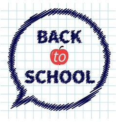 Back to school doodle text on paper sheet vector