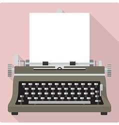 Retro vintage typewriter icon vector