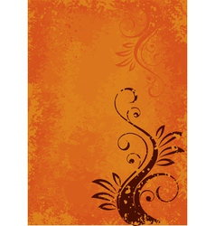 orange abstract layout vector image