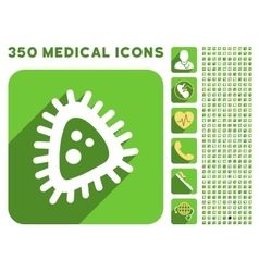 Micro parasite icon and medical longshadow icon vector