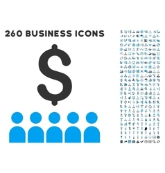 Business education icon with flat set vector