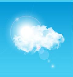 Sun Shining Through Cloud vector image