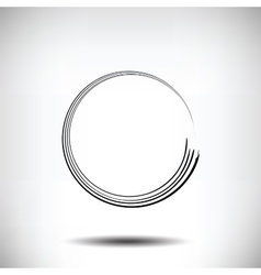 Pinstripe circle grunge black background vector