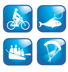Adventure sport icons vector