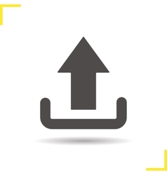 Upload arrow icon vector
