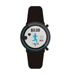 Heartrate wrist monitor icon vector