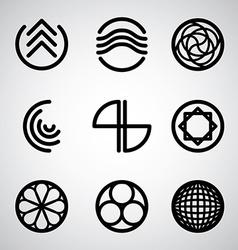 Abstract symbols set 2 vector