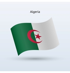 Algeria flag waving form vector image