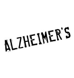 Alzheimer rubber stamp vector image