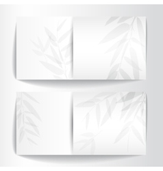 Banners with bamboo trees vector