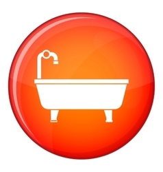 Bathtub icon flat style vector image vector image