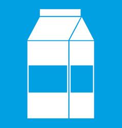 box of milk icon white vector image