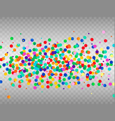 colorful confetti on transparent background vector image