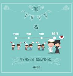 Duration cute cartoon wedding couple men and vector