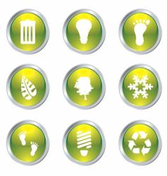 eco gel icons vector image vector image