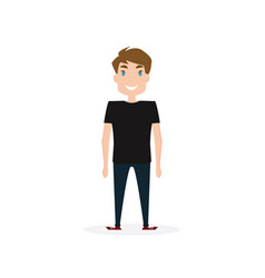 happy young person vector image