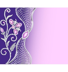 jewelry background with ornaments vector image vector image