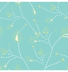 Leaves seamless whimsical pattern vector image