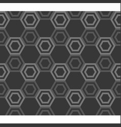 line of hexagon inside hexagon outline vector image