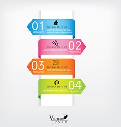 Modern arrow origami style step up options banner vector