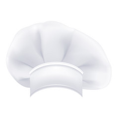 photorealistic modern white chef hat isolated on a vector image vector image