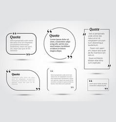 Quote bubbles template vector