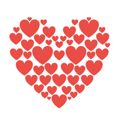 red hearts love vector image