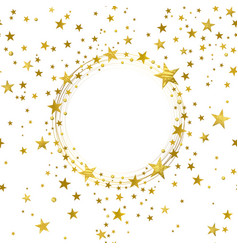 round banner of gold stars vector image vector image