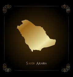 Saudi arabia golden map vector
