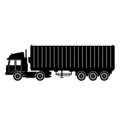 Silhouette truck trailer container delivery cargo vector