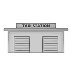 Taxi station icon gray monochrome style vector image