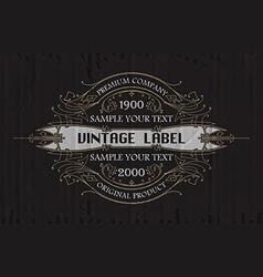 Vintage typographic label premium vector