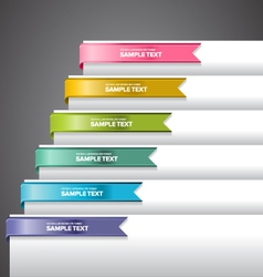 Bookmark labels ribbon vector