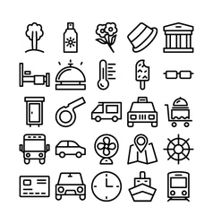 Summer and travel icons 6 vector