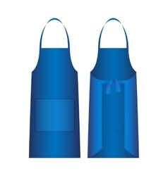 Apron isolated on white blue outer protective vector