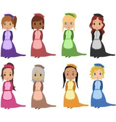 maids vector image