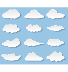 Clouds set vector