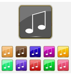 Music note sign icon set musical symbol colourful vector