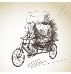 Cycle rickshaw vector