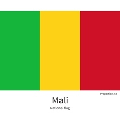 National flag of mali with correct proportions vector