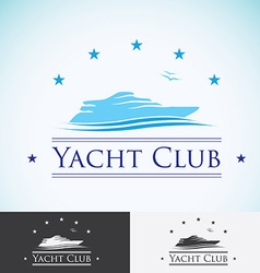 Yacht club logo design template sea cruise vector