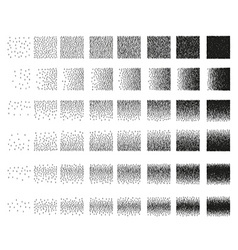 Set 48 vertical band stipple pattern for design vector